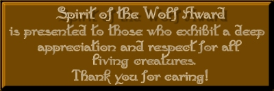 Spirit of the Wolf Award